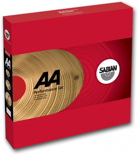 "Sabian 25005-NB AA Performance Series Cymbal Pack with 14"" Hi-Hats, 16"" Medium Crash, 18"" Medium Ride, No Bag 25005-NB"