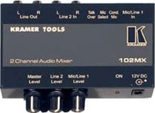 Kramer 102MX 2-Channel Audio Mixer 102MX