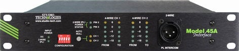 Studio Technologies MODEL 45A 2 Wire to 4 Wire Interface  MODEL-45A