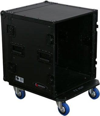 Odyssey FZAR12WBL 12RU Black Label Case with Wheels FZAR12WBL