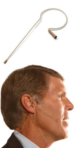 Countryman E6OW6C-SL-DURAMAX E6 Headworn Microphone, for Shure wireless, Cocoa (Light Beige Shown), Duramax Cable E6OW6C-SL-DURAMAX