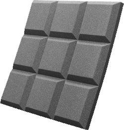 """Auralex SGRID22PUR SonoFlat Grids, 2' x 2' x 2"""", 16pk, Purple (Charcoal shown) SGRID22PUR"""