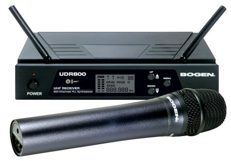 Bogen Communications UDMS800HH  UHF Wireless System, with Handheld Transmitter UDMS800HH