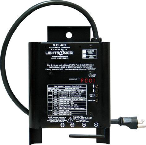 Lightronics Inc. XC40-WSRX 4 Channel Compact Portable Dimmer w/ Wireless XC40-WSRX