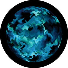 Rosco Laboratories 86729 Aquatic Mix Glass Abstract Color Gobo by Lisa Cuscuna 86729