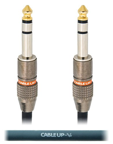 """Cable Up by Vu PM3-PM3-0.5 6"""" 1/4"""" TRS Male to Male Balanced Cable PM3-PM3-0.5"""