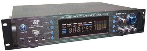 Pyle Pro P3201ATU 3000 Watt Hybrid Preamplifier with AM/FM Tuner & USB Port P3201ATU