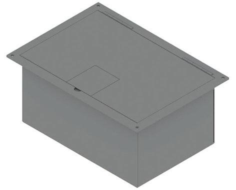 FSR, Inc FL-1500-2D-BLK Floor Box with Hnged Lid, #10088, Black FL-1500-2D-BLK
