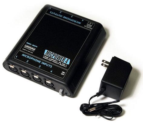 Whirlwind MICPOWER-4 Phantom Power Unit 4 Channel MIC4-WHIRLWIND