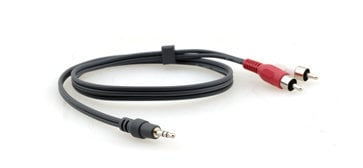 Kramer C-A35M/2RAM-25 25 ft. 3.5mm Male to 2-RCA Male Breakout Cable C-A35M/2RAM-25