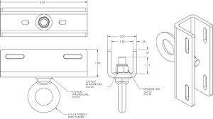 Allen PM-SAFETY-6DOWN Safety Anchor Pole Bracket for Polestar PM-SAFETY-6DOWN