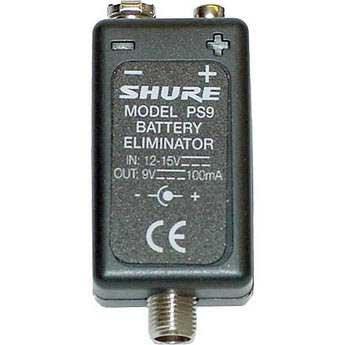 Shure PS9US Battery Eliminator, 9 volt PS9US