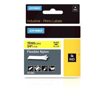 "Dymo Corporation 18491 3/4"" Industrial Flexible White Nylon Label Tape for Rhino Label Printers 18491"