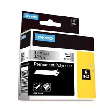 """Dymo Corporation 18485 3/8"""" Industrial Metallic Permanent Polyester Label Tape for Rhino Label Printers 18485"""