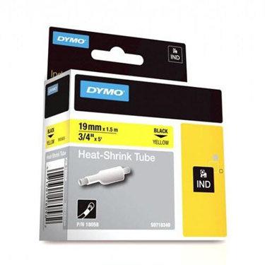 "Dymo Corporation 18058 3/4"" Industrial Yellow Heat Shrink Tape for Rhino Label Printer 18058"