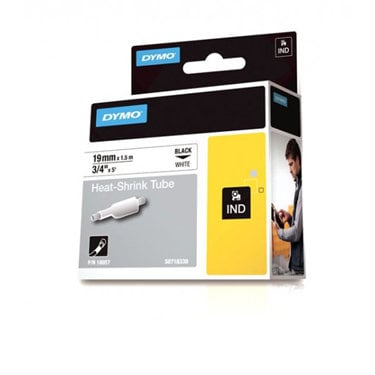 """Dymo Corporation 18057 3/4"""" Industrial White Heat Shrink Tape for Rhino Label Printers 18057"""