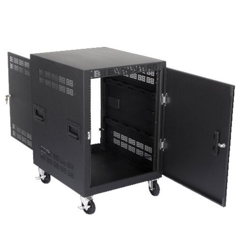 "Atlas Sound RX14-30SFD  14RU mobile Equipment Rack, 30"" Deep RX14-30SFD"