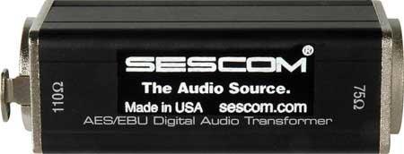 Sescom SES-AES-EBU-1 XLRF to 75 Ohm BNC Female AES/EBU Impedance Transformer SES-AES-EBU-1