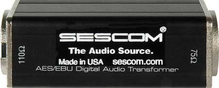 "Sescom SES-AES-EBU-2 2"" BNC to XLRM Transformer SES-AES-EBU-2"