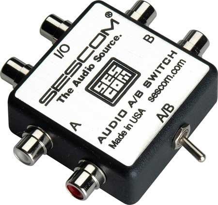 Sescom SES-AUDIO-AB  RCA Stereo Audio A/B Switcher SES-AUDIO-AB