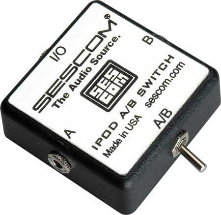 Sescom SES-IPOD-AB iPod Stereo Audio MP3, WMA, 3.5mm Stereo A/B Switch SES-IPOD-AB