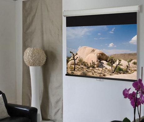 """Draper Shade and Screen 206173  Projection Screen, Luma 2, 16:10, 123"""", Matte White 206173"""