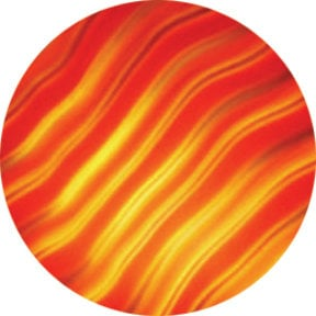 Rosco 33001 Red Waves ColorWaves Effects Glass Gobo 33001