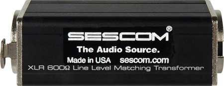 Sescom SES-XLR-ISO 600 Ohm Inline XLR Mic Matching Transformer SES-XLR-ISO