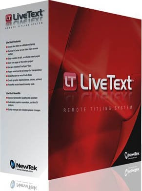 NewTek LiveText 2 (Full Version) [EDUCATIONAL PRICING] with DataLink 3 Technology for VT[5.2], All Tricasters Except TC100 LIVETEXT2F-EDU