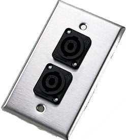 Neutrik 204L Single-Gang Wall Plate with 2x NL4MP Speakon Connectors 204L