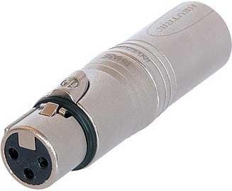 Neutrik NA3FMX 3-Pole XLR-F to 3-Pole XLR-M Adapter NA3FMX