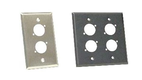 Whirlwind WP1/1ND Stainless Steel Wall Plate, Single Gang, for Neutrik D XLR WP1/1ND