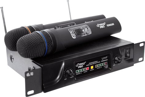 Pyle Pro PDWM2600  Dual Channel UHF Wireless Microphone System PDWM2600
