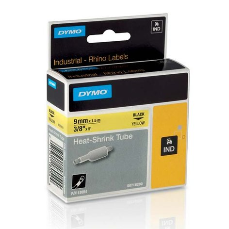 """Dymo Corporation 18054 3/8"""" Industrial Yellow Heat Shrink Tape for Rhino Label Printers 18054"""