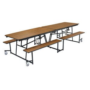 National Public Seating MTB10PW 10 ft. Plywood Top Table with Benches MTB10PW