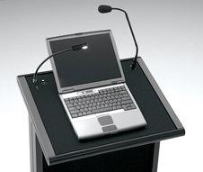 Da-Lite 99662 Black Euro Deluxe Lectern Laptop Shelf 99662