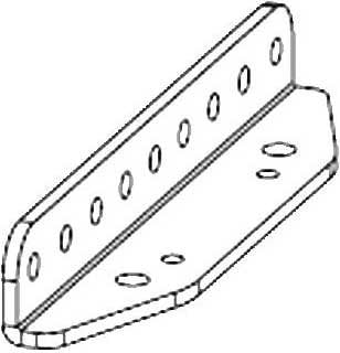 "Nexo VNI-LBRK Fixed Install ""L"" Bracket (for GEO-S12) VNI-LBRK"