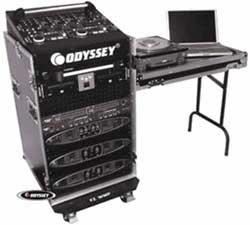 Odyssey FZ1316W-DLX ATA Combo Rack with Wheels & Work Station FZ1316W-DLX