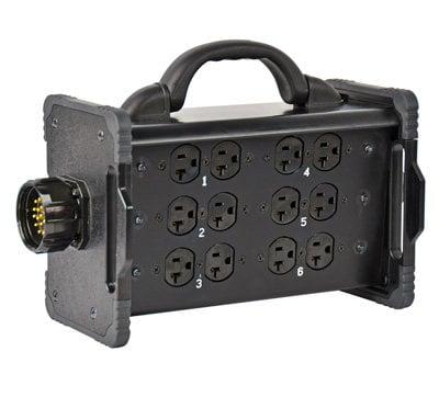 "Lex Products Corp BNZJ2-Z3 20 Amp ""Break Out Box"" to Edison Receptacles, Feed Thru BNZJ2-Z3"