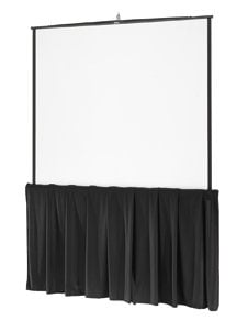 """Da-Lite 36734 83"""" x 144"""" Ultra Velour Skirt Drape for Fast-Fold Screens 36734"""