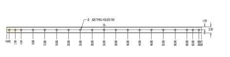 """ATM/Adaptive Technologies SAS-066-RB Rigging Beam, 66"""" 2""""x4"""", Black SAS-066-RB"""