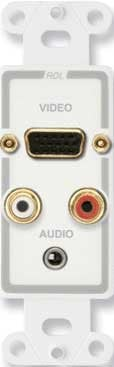Radio Design Labs D-AVM4  Decora Audio/Video Monitor Jack Panel D-AVM4