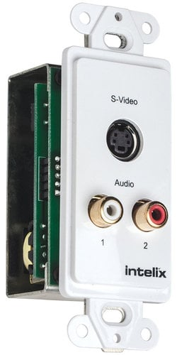 Intelix AVO-SVA2-WP-F Single S-Video and Stereo Analog Audio Wall Plate AVO-SVA2-WP-F