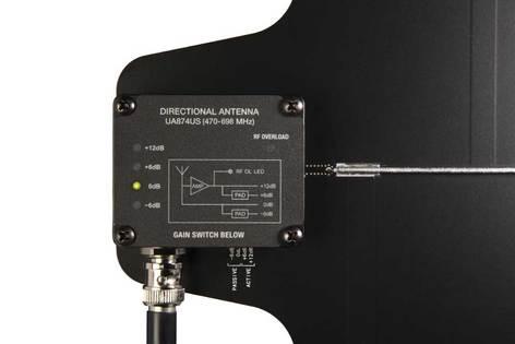 Shure UA874US Active Directional Antenna, 470-698 MHz UA874US