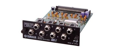 "Yamaha MY8AD24 8-Channel 24-bit 1/4"" TRS Input Card for Yamaha Digital Mixers MY8AD24-CA"