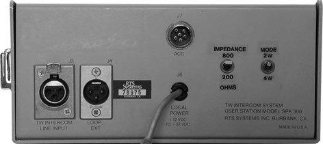 RTS SPK300L/A4F SPK-300L A4F SPK300L/A4F
