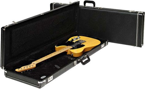 Fender 099-6172-306 Hardshell Jazz Bass Electric Bass Case in Black 099-6172-306