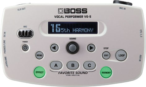 Boss VE5-WH Vocal Effects Processor, White VE5-WH