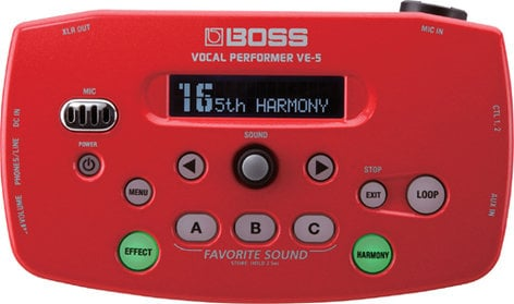 Boss VE5-RD Vocal Effects Processor, Red VE5-RD