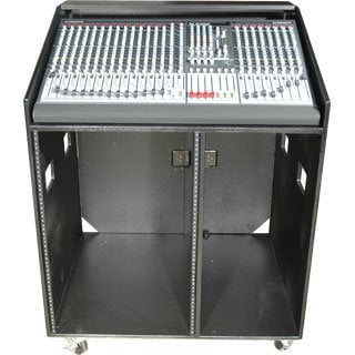 Grundorf Corp COMBO-B1642C  Combo Rack, Studio Series, 16 Space Bottom, W/Casters COMBO-B1642C